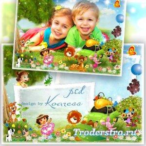 Фоторамка с героями любмиых мультфильмов -  Наш пикник веселый