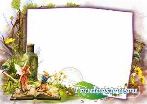 Детская рамка для фотошопа - Красивая лесная сказка