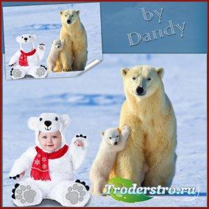 Шаблон для мальчика - Самый белый медвежонок