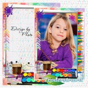Детская рамка для фото - Мы рисуем