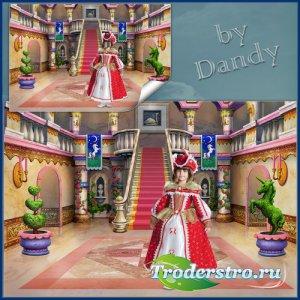 Шаблон для фотошопа - Маленькая королева в замке