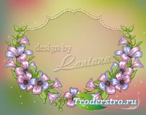 PSD исходник - Аромат цветов рождает грезы
