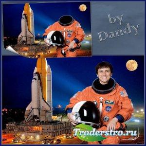 Шаблон для мужчины - Астронавт перед взлетом на шаттле