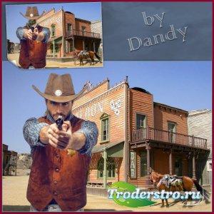 Шаблон для мужчины - Шериф на Диком Западе