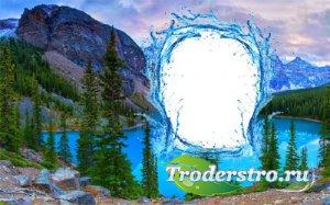 Рамка для оформления - Голубое озеро