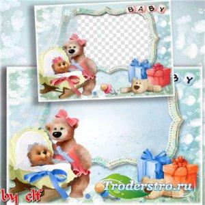 Фоторамки для новорожденных мальчика или девочки - Я родился
