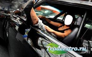 Шаблон psd - В черном авто