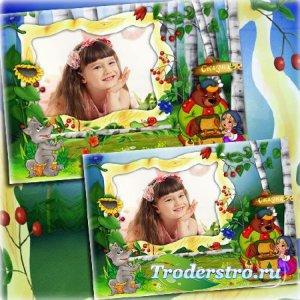 Детская рамка для фото - Сказочный лес