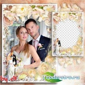 Свадебная рамка для фото – Пусть любовь вас согревает