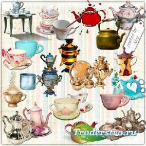 Клипарт в png - Чашки, кружки, чайники, самовары