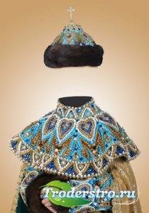 Фотошоп шаблон для девочки – Королевский наряд
