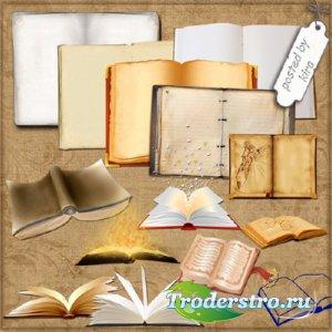 Клипарт - Книжные развороты для творческих работ