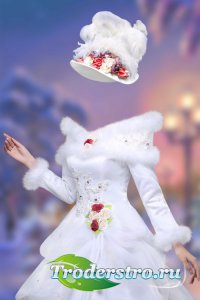 Женский шаблон женский – Зимнее платье бальное