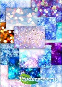 Зимние, новогодние растровые фоны для дизайна - Любимых праздников сияние