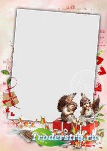 Рамка для фото - Амуры и День Святого Валентина