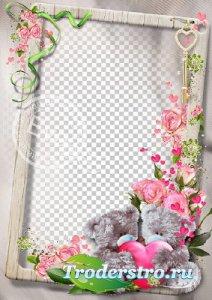 Рамочка для фотографий - Любимые мишки Тедди