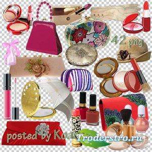 Png клипарт для фотошопа - Женская косметика, сумки и другие аксессуары
