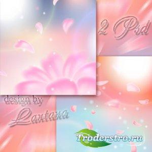 Многослойные фоны - Весенний сказочный рассвет