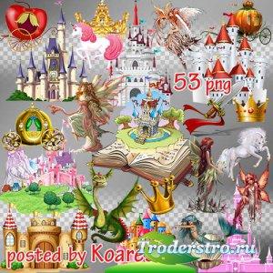 Детский png клипарт на прозрачном фоне - Страна волшебных сказок