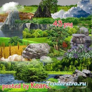 Png клипарт для фотошопа - Элементы пейзажа