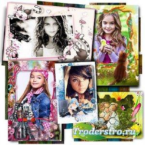 Сборник фоторамок - Розовое детство