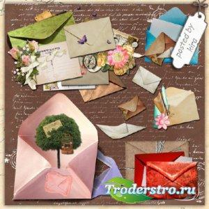 Клипарт - Конверты и письма в png