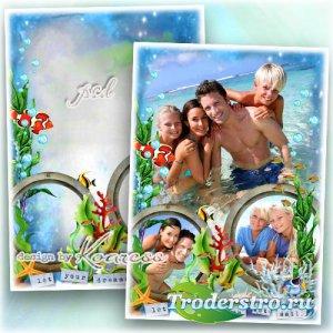 Семейная рамка для летних морских фото - Целый год мы скучали по морю