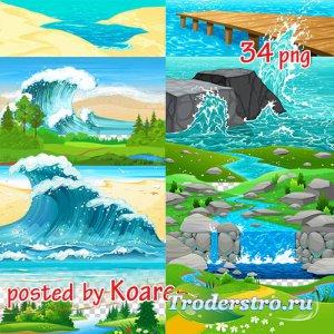 Png клипарт - Пляжи, реки, озера, море и другие элементы пейзажа (часть 2)