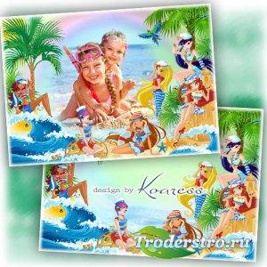 Летняя рамка для девочек - Морские каникулы с Винкс
