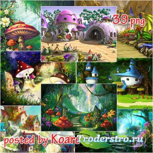 Детские сказочные jpg фоны - Волшебная страна