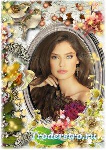 Рамка для фото - Осенний аромат цветов