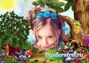 Детская рамка для фото - По лесным тропинкам