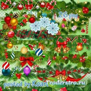 Клипарт png на прозрачном фоне для дизайна - Новогодние и рождественские ги ...