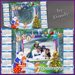 Календарь на 2018 год - С новым годом