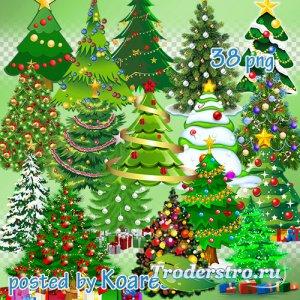 Клипарт png на прозрачном фоне для дизайна - Новогодние , рождественские ел ...