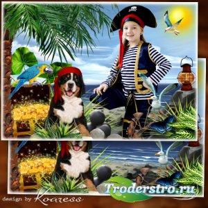 Детская рамка для фотошопа - Пиратская жизнь