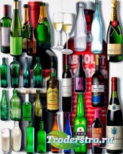 Растровые клип-арты - Стеклянные бутылки