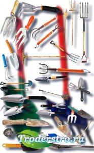 Новые клипарты Png - Грабли и лопаты