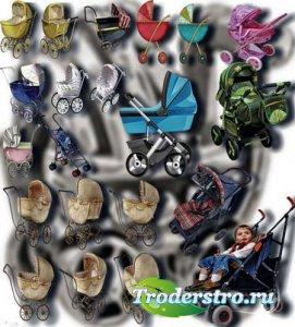 Клипарты на прозрачном фоне - Детские коляски