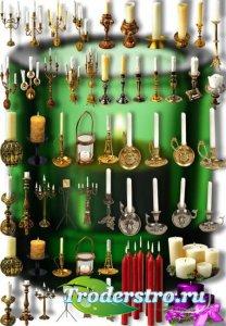 Png Клипарты - Свечи и подсвечники