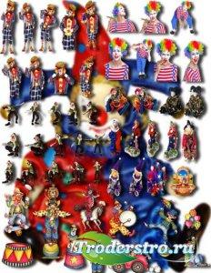 Клип-арты картинки - Веселые клоуны