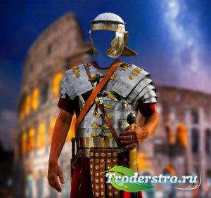 Фотошаблон для photoshop - Воин древнего Рима