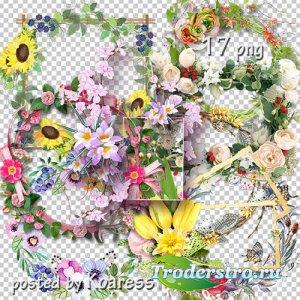 Подборка цветочных png рамок-вырезов - Цветочная коллекция 2