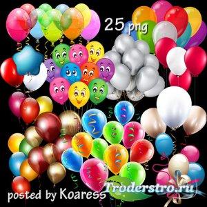 Клипарт png для дизайна - воздушные шарики, связки шаров -2