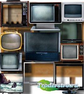 Клип-арты картинки - Телевизоры разных моделей