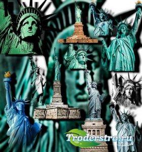 Клип-арты на прозрачном фоне - Статуи свободы