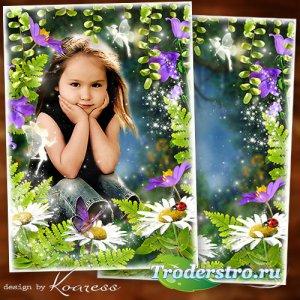 Летняяя рамка для детских фото - Сказочный лес