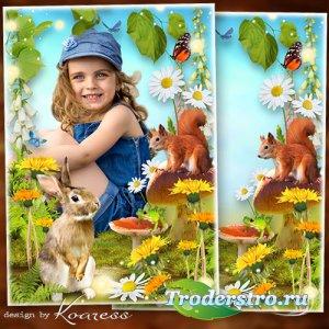 Детская рамка- Летняя полянка