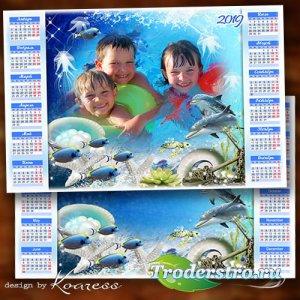 Календарь на 2019 год - Здравствуй, море, лазурное море