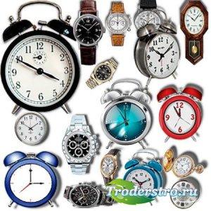 Коллекция Png клипартов - Часы и будильники